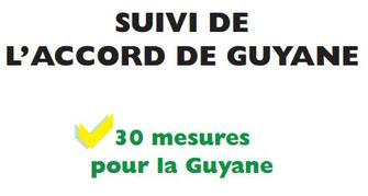 Point d'Etape - Suivi de l'accord de Guyane